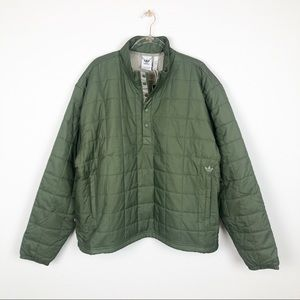 Adidas Quilted Olive Green Unisex Track Jacket 2XL